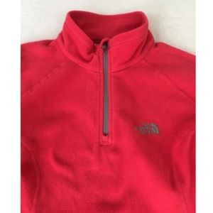 The North Face Pink 1/4 Zip Sweater Womens Small